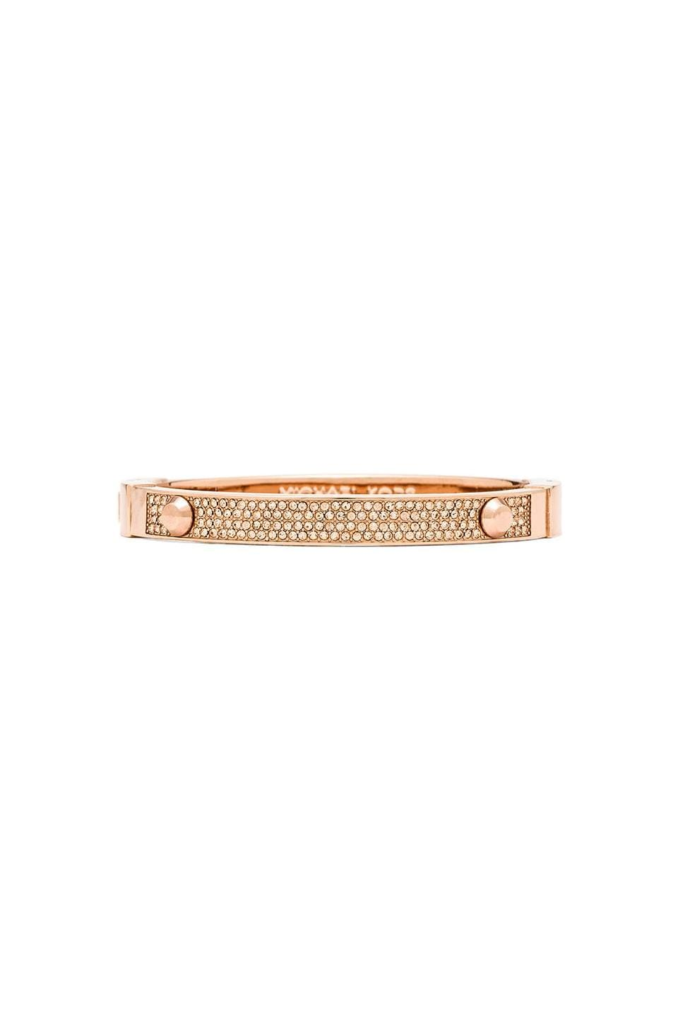 Michael Kors Crystal Bangle in Rose Gold