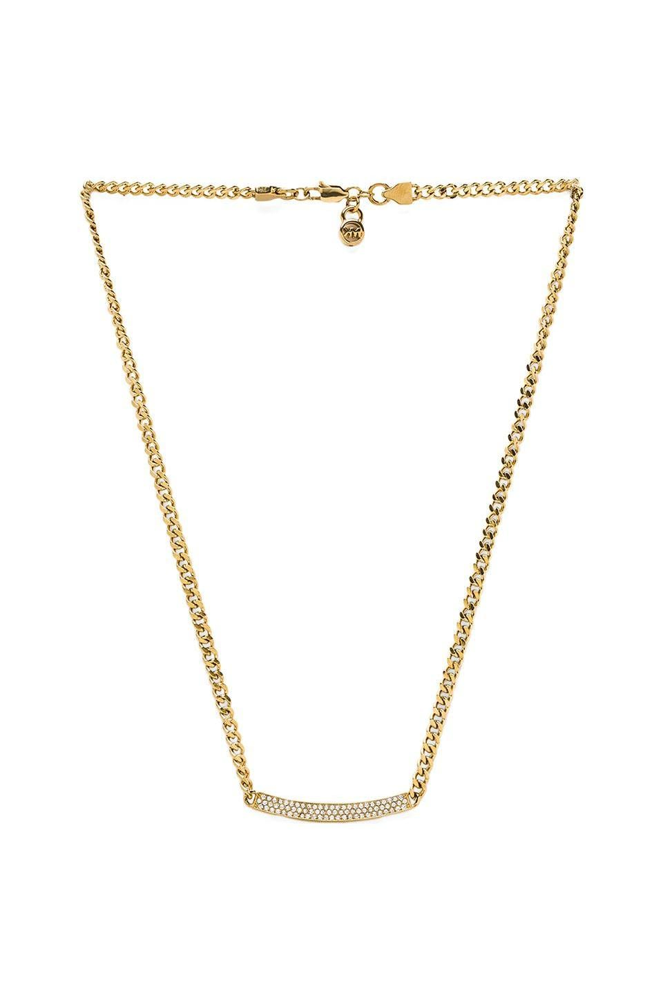 Michael Kors Jeweled Astor Necklace in Gold