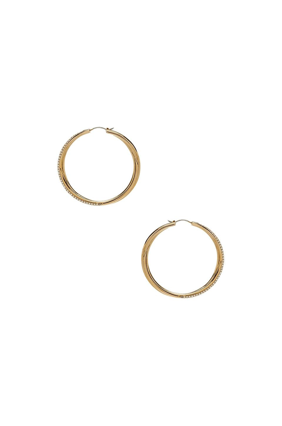 Michael Kors Brilliance Hoop Earrings in Gold