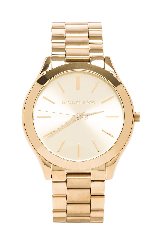 Michael Kors Slim Classic Watch in Gold