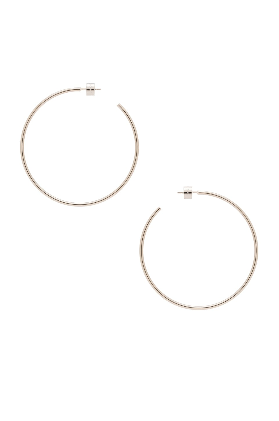Michael Kors Large Hoop Earring in Silver