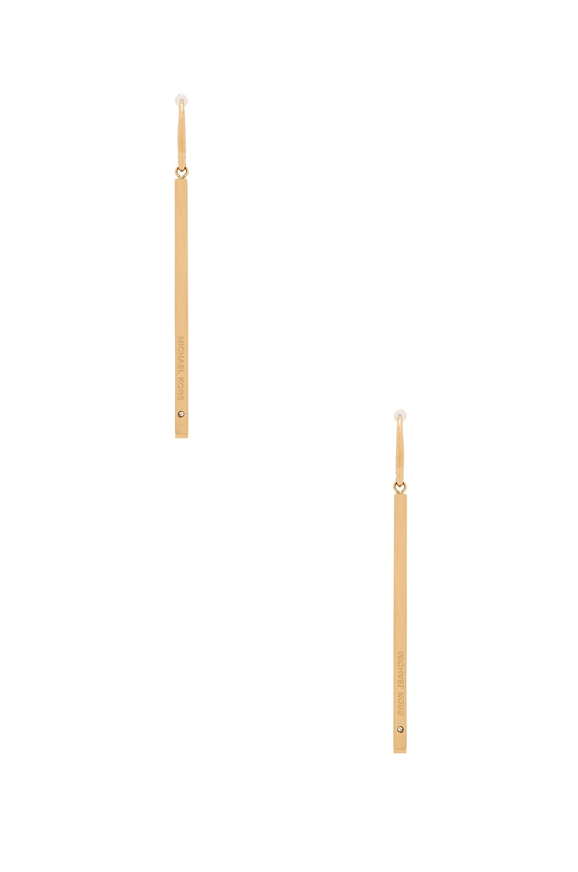 Michael Kors Bar Earring in Gold