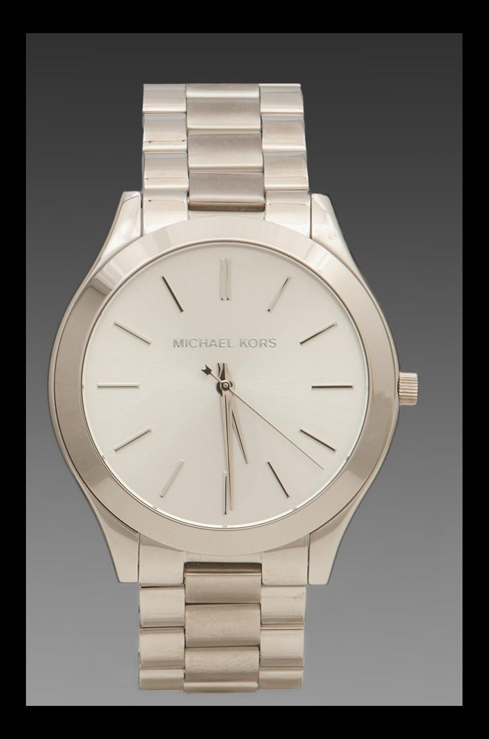 Michael Kors Slim Classic Watch in Silver