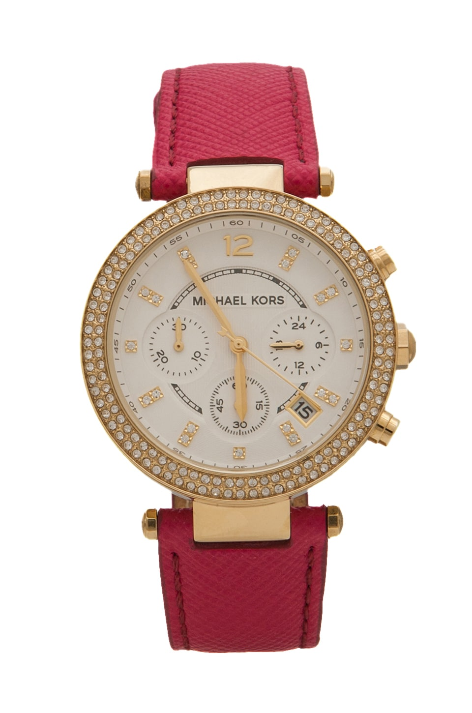 Michael Kors Parker Watch in Pink/Gold