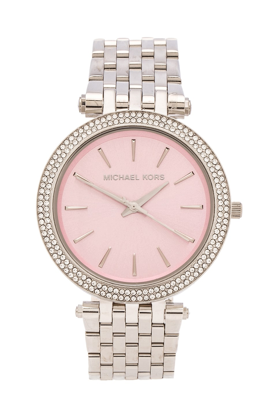 Michael Kors Darci in Silver & Pink