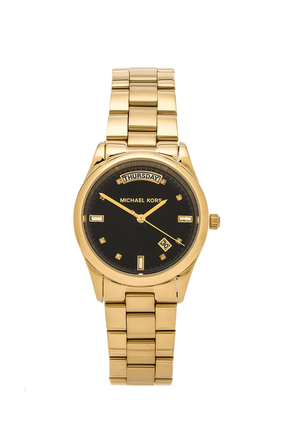 Michael Kors Colette in Gold & Charcoal