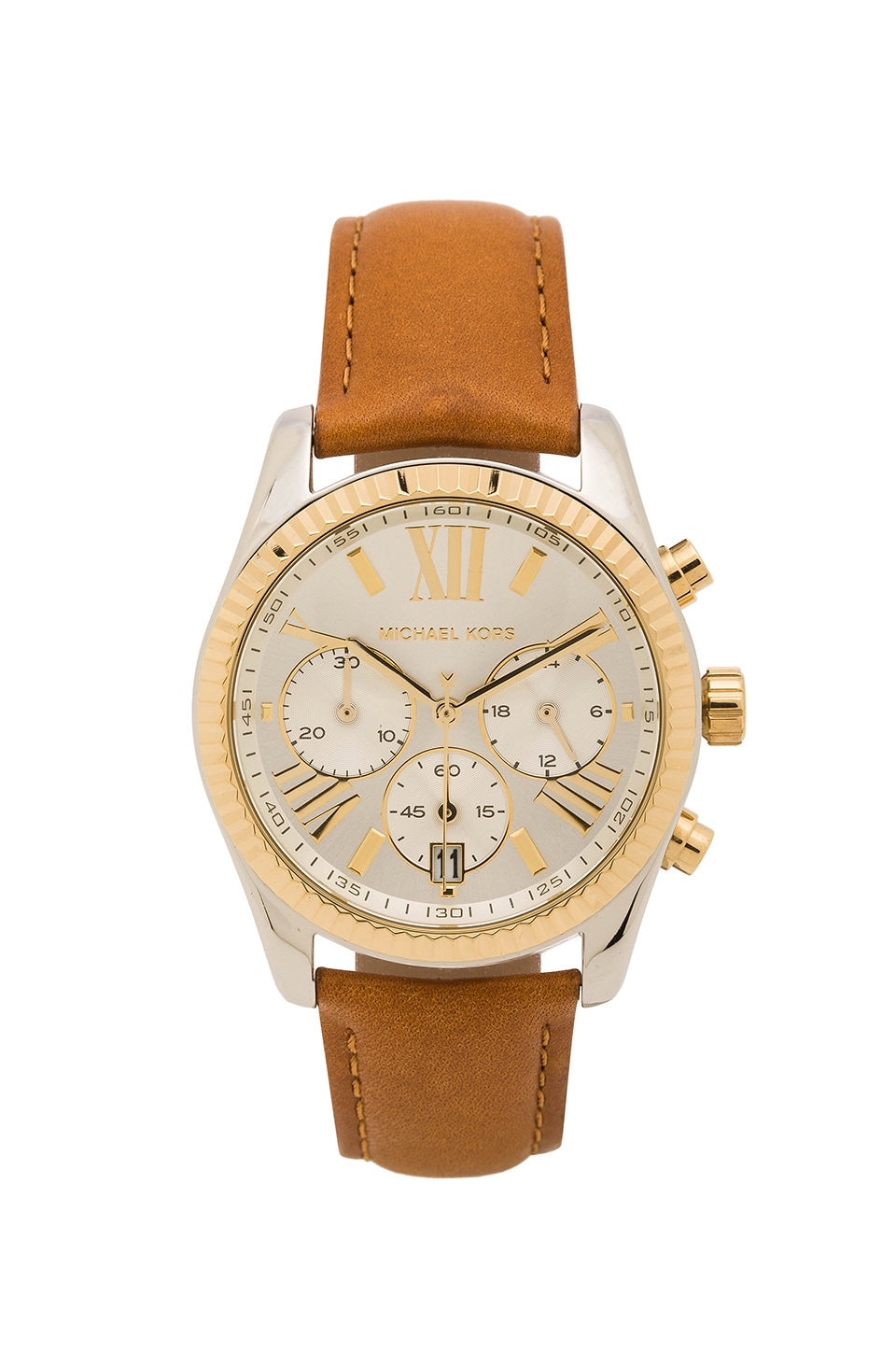 Michael Kors Lexington Watch in Stainless Steel & Gold