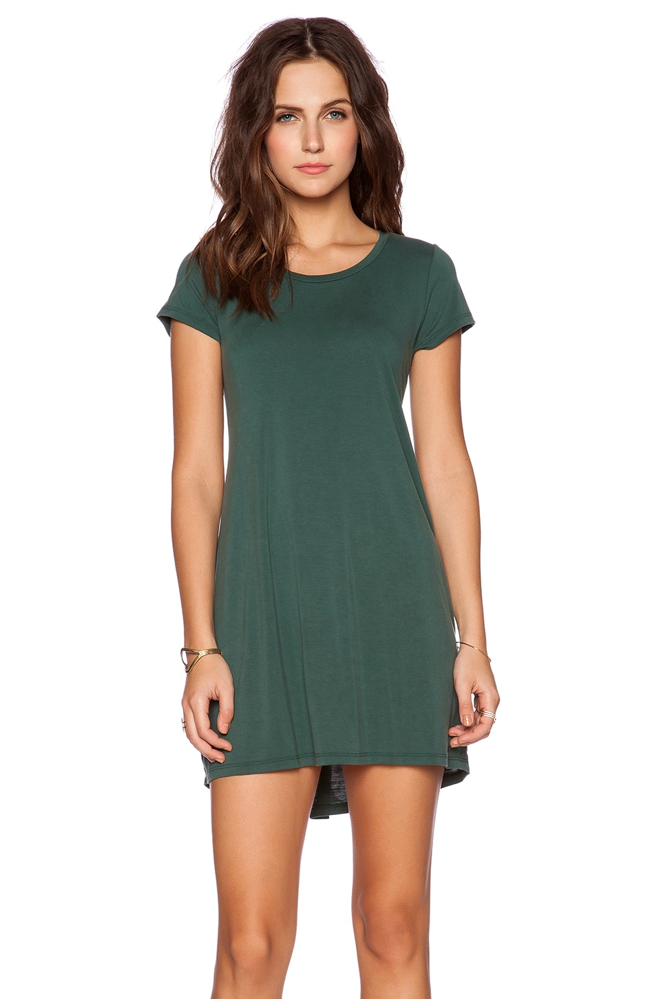 Michael Lauren Cuba T Shirt Dress in Dark Green | REVOLVE