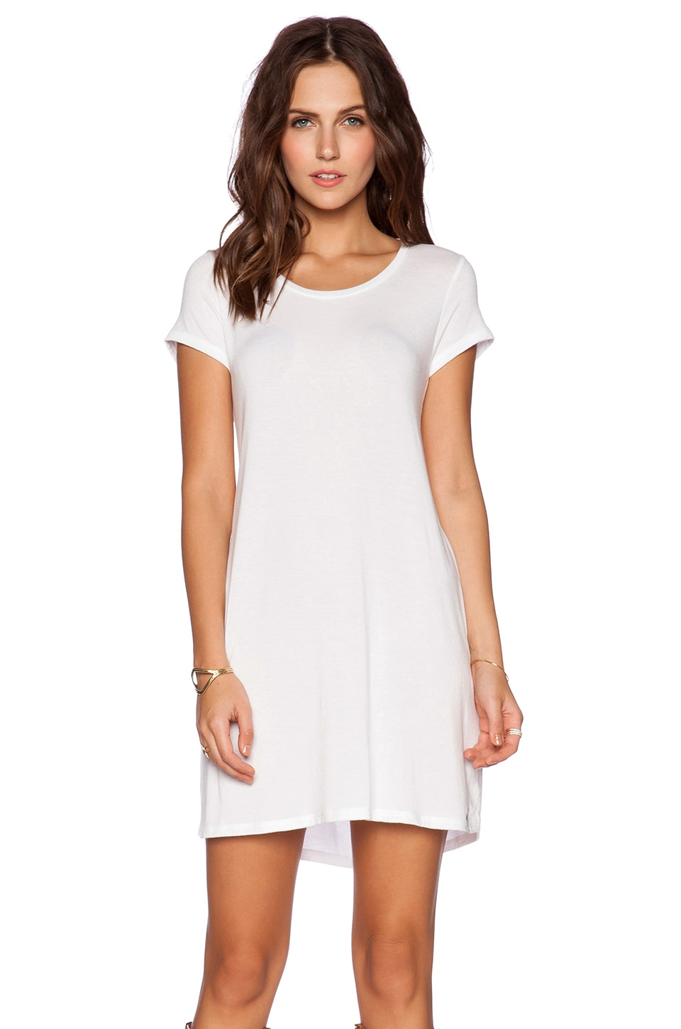 Michael Lauren Cuba T Shirt Dress in White