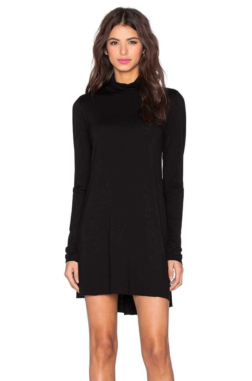 Michael Lauren Leo Turtleneck Mini Dress in Black
