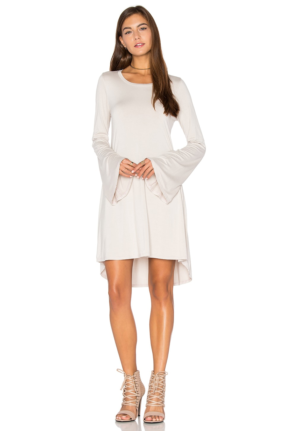 Michael Lauren Kipp Mini Dress in Dove