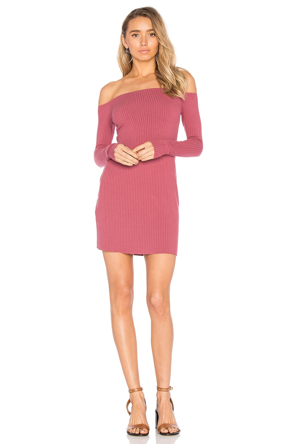 Michael Lauren Karl Off Shoulder Dress in Rose Garden