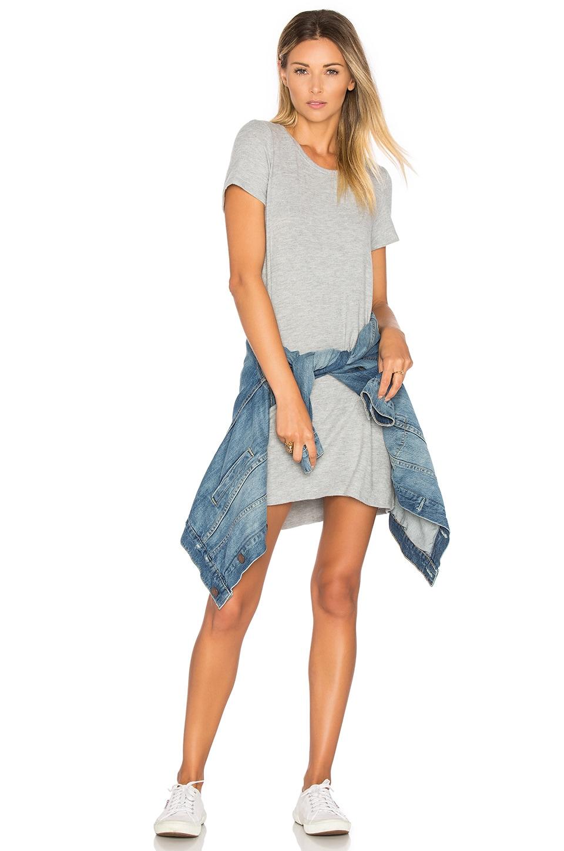 Michael Lauren Cuba Shirt Dress in Heather Grey