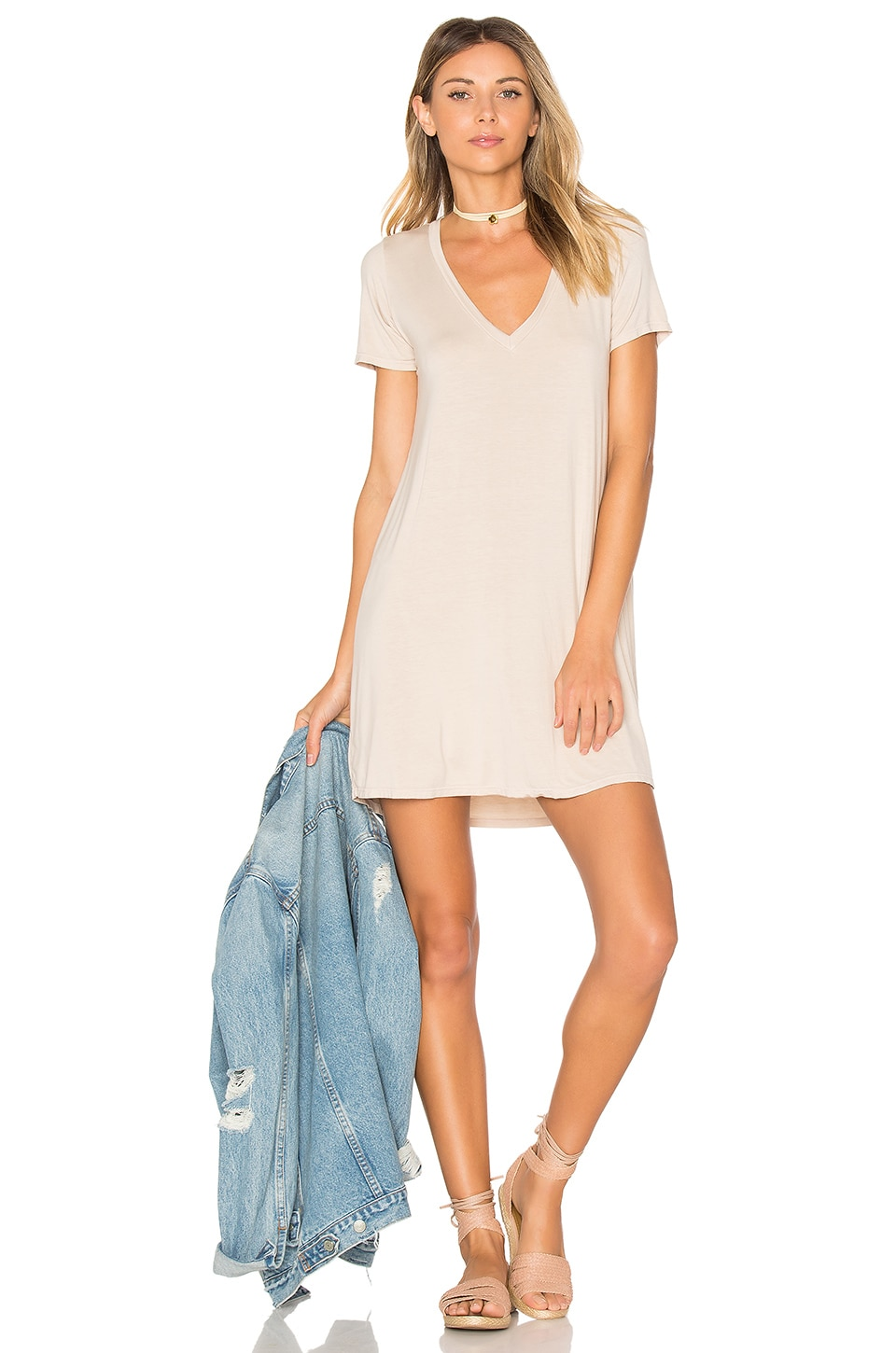 Michael Lauren Lane Mini Dress in Oatmeal