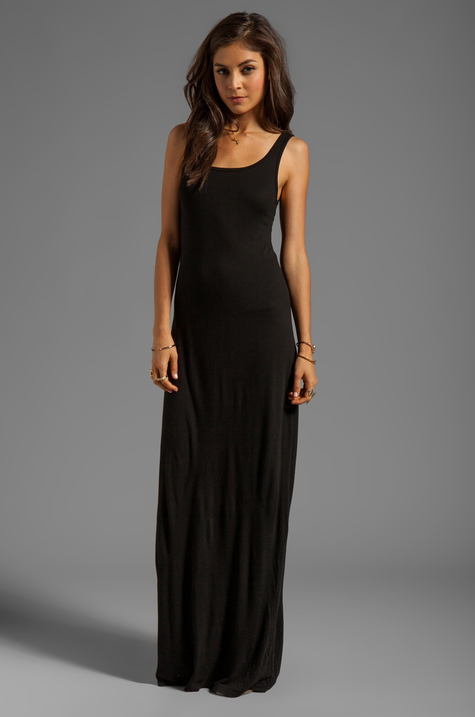 Michael Lauren Edison Long Tank Dress in Black  REVOLVE