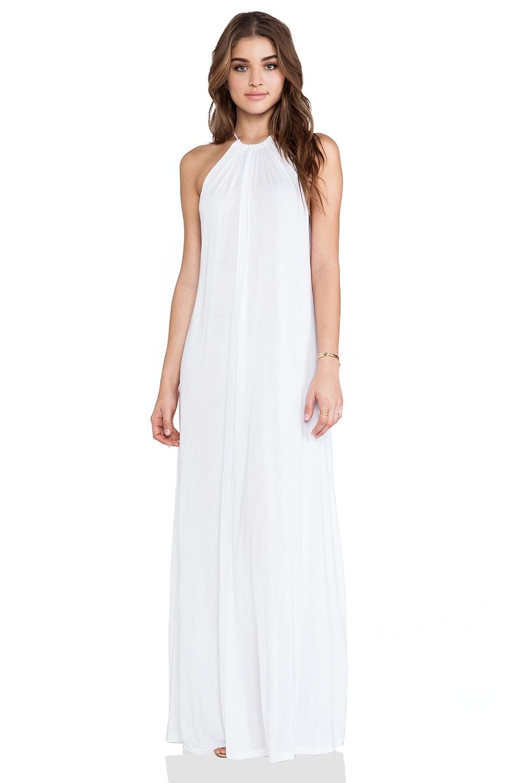Michael Lauren Pedro Halter Maxi Dress in White | REVOLVE