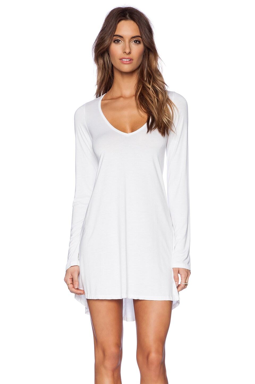 Michael Lauren Kyle V Neck Dress in White