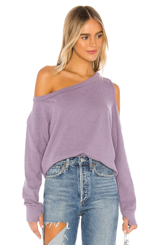 Michael Lauren Link Sweatshirt in Lilac Rose