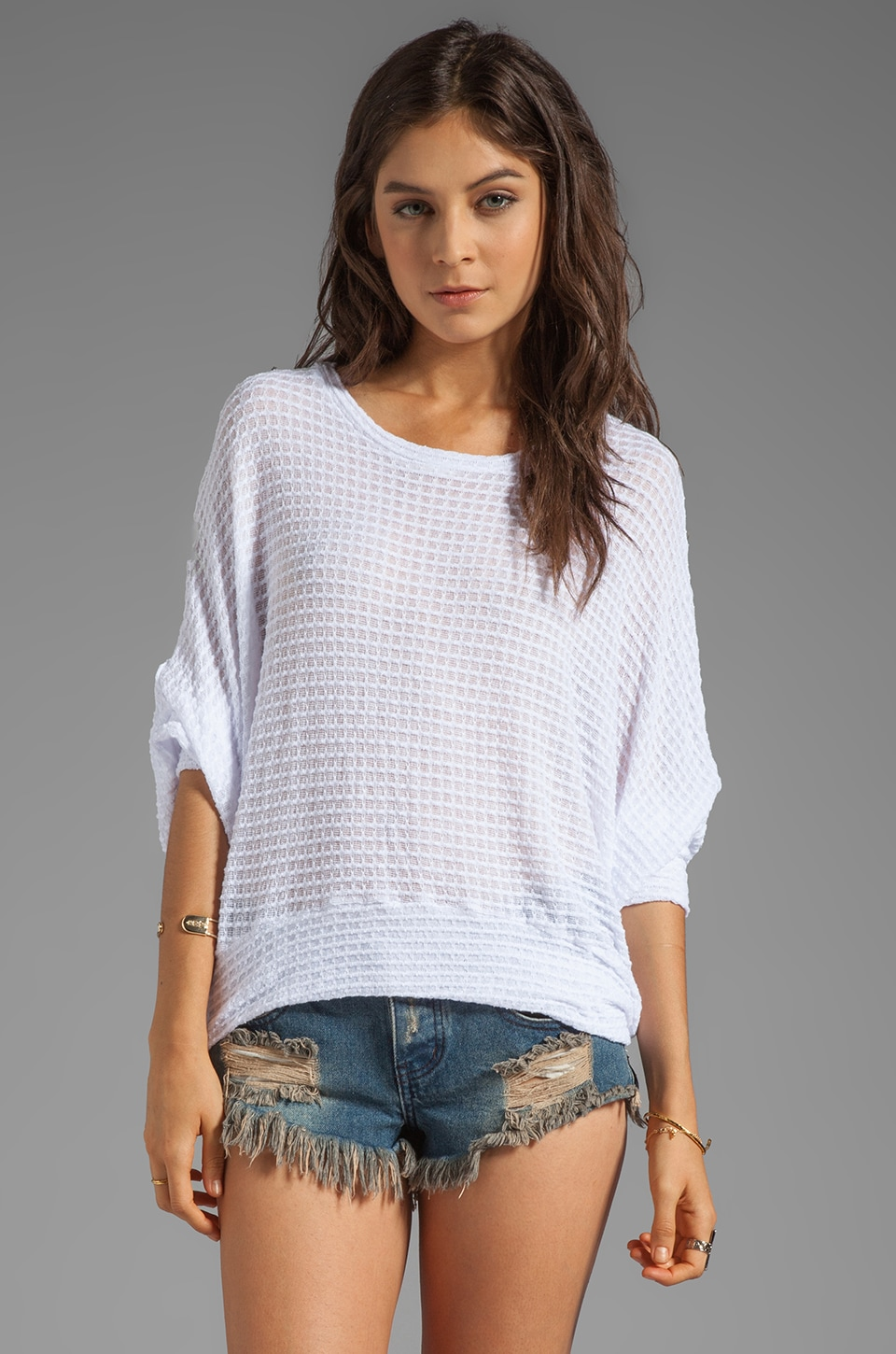 Michael Lauren Kurt Oversized Sweater in White