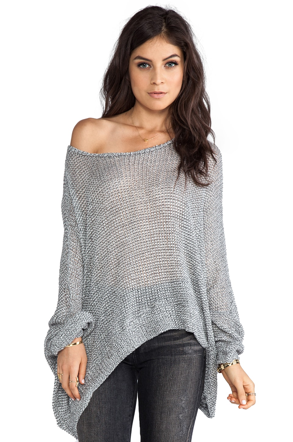 Michael Lauren Kurt Oversized Sweater in Grey
