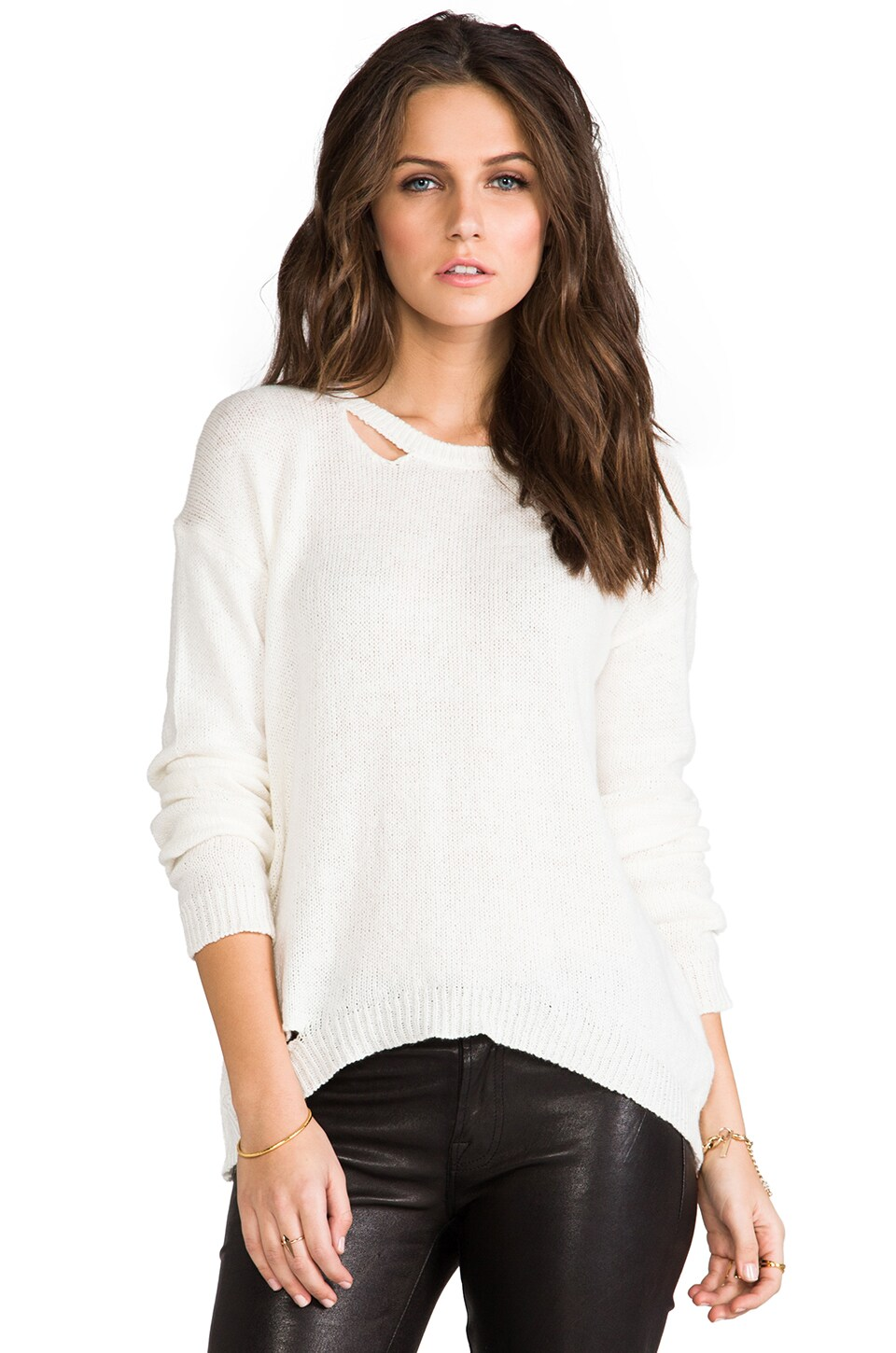 Michael Lauren Roman Sweater in Natural