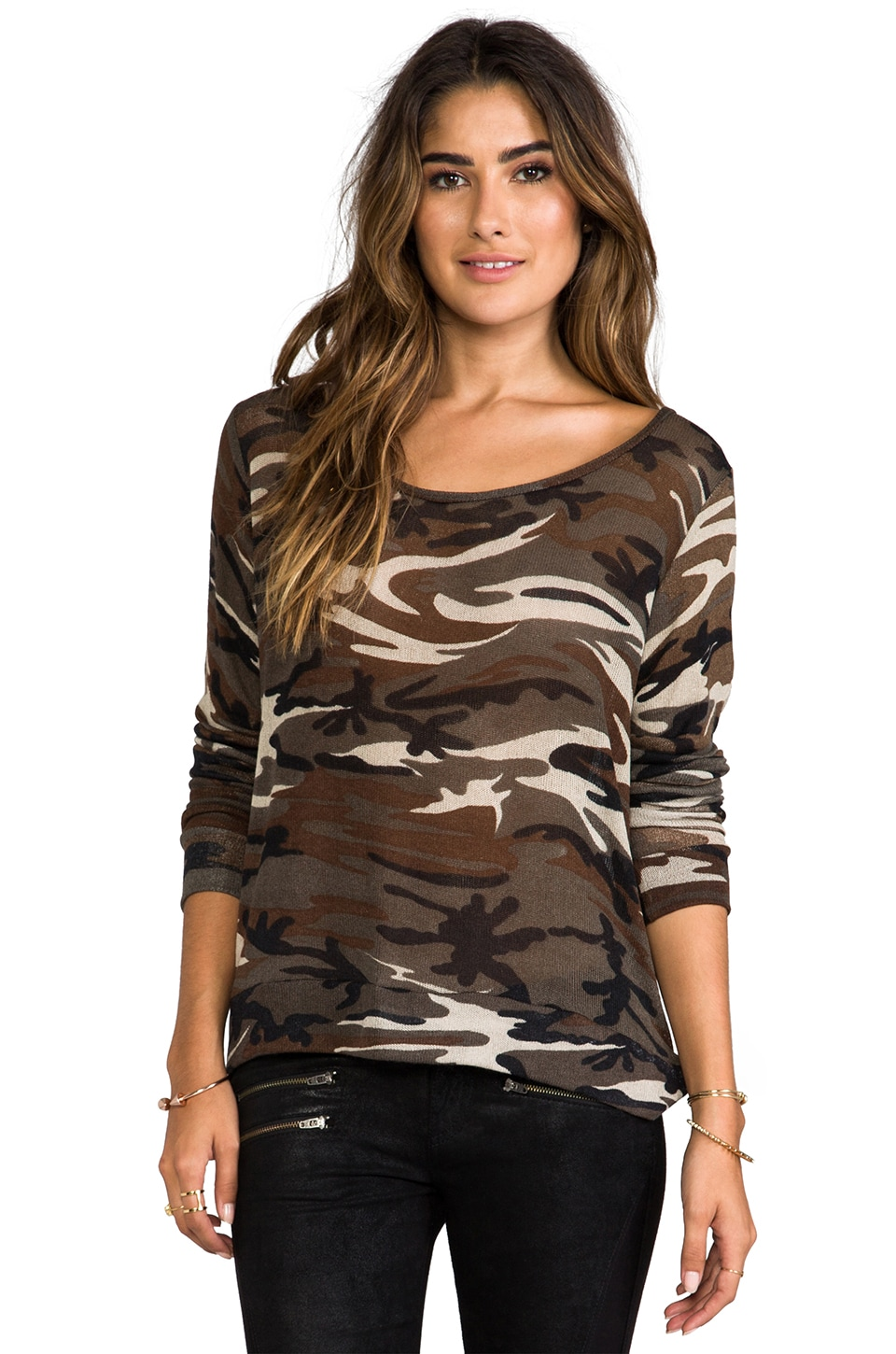 Michael Lauren Falcon Long Sleeve Pullover in Camo