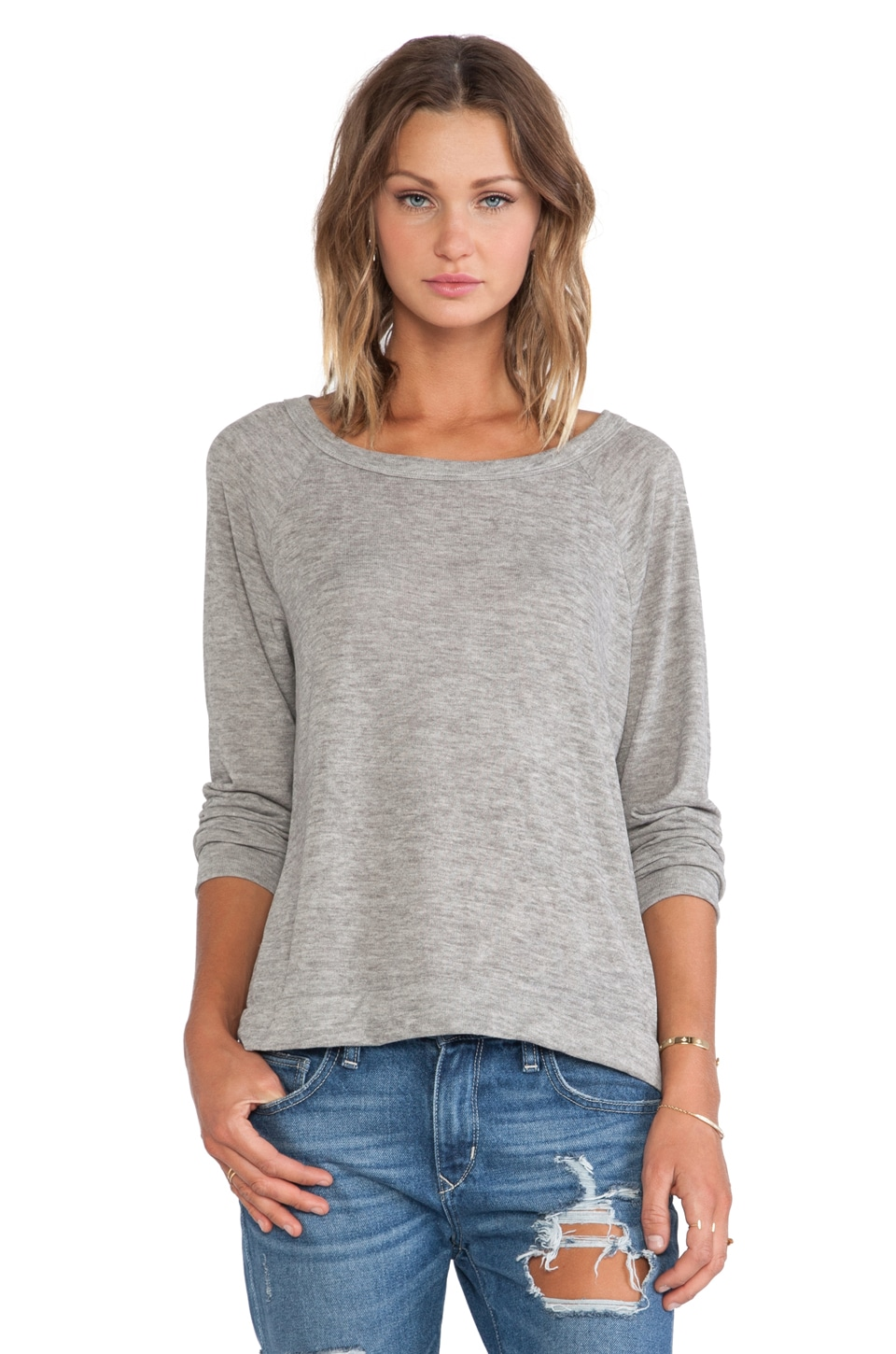 Michael Lauren Kenny Sweater Pullover in Olive