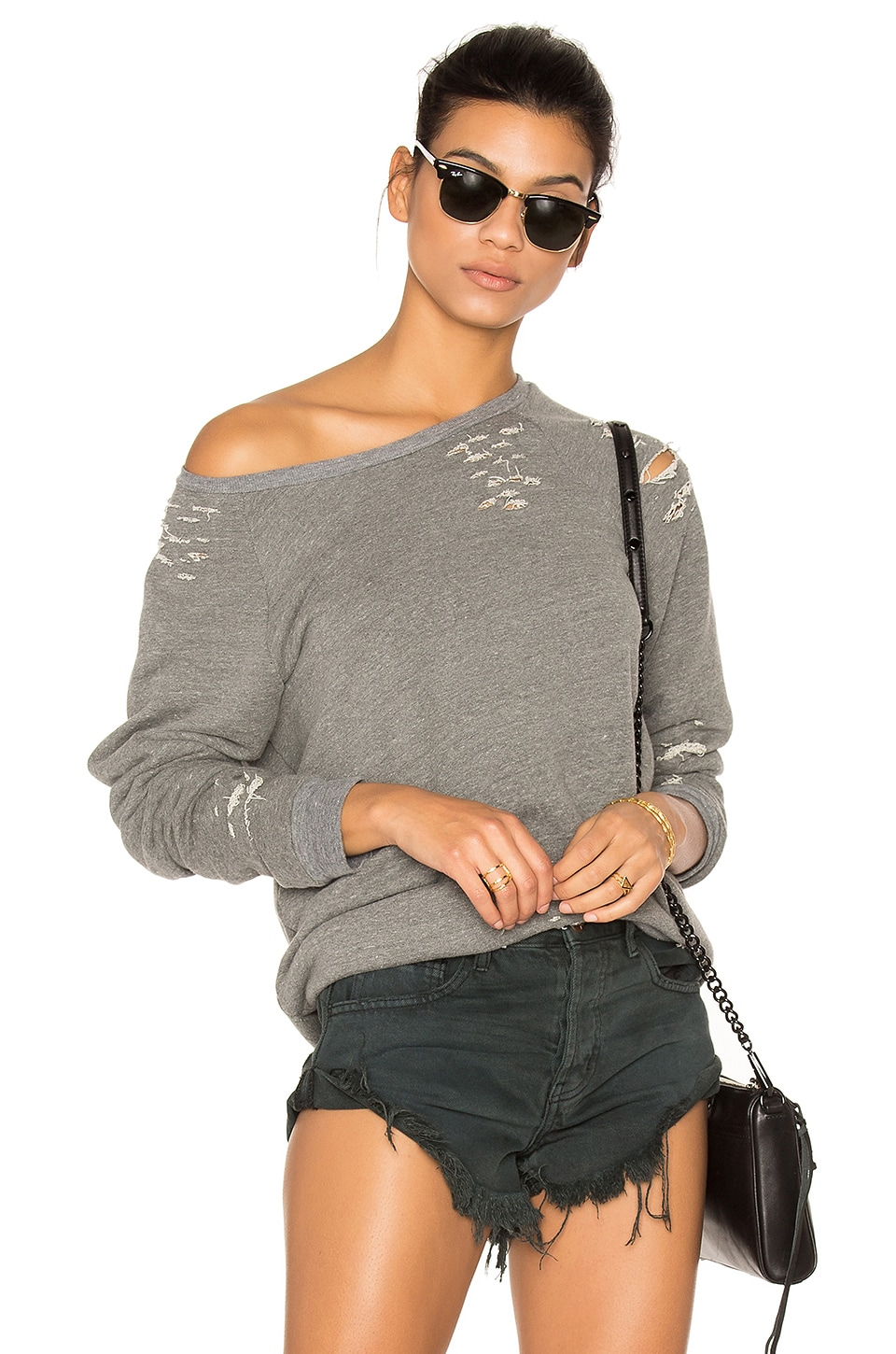 Draco Distressed Pullover by Michael Lauren