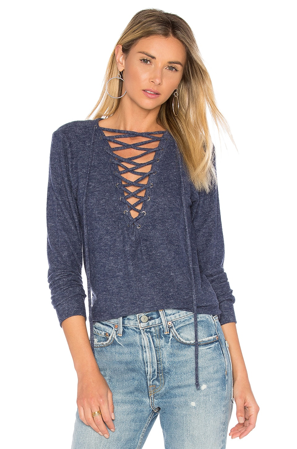 Dominic Lace Up Pullover by Michael Lauren