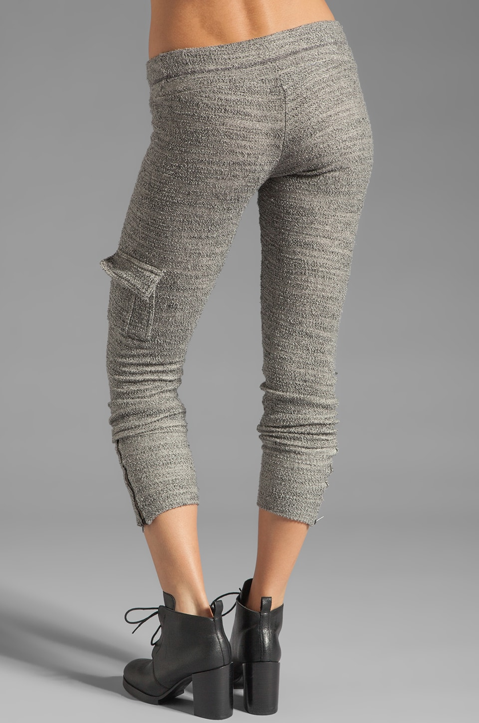 Michael Lauren Warren Cargo Sweatpant in Stone