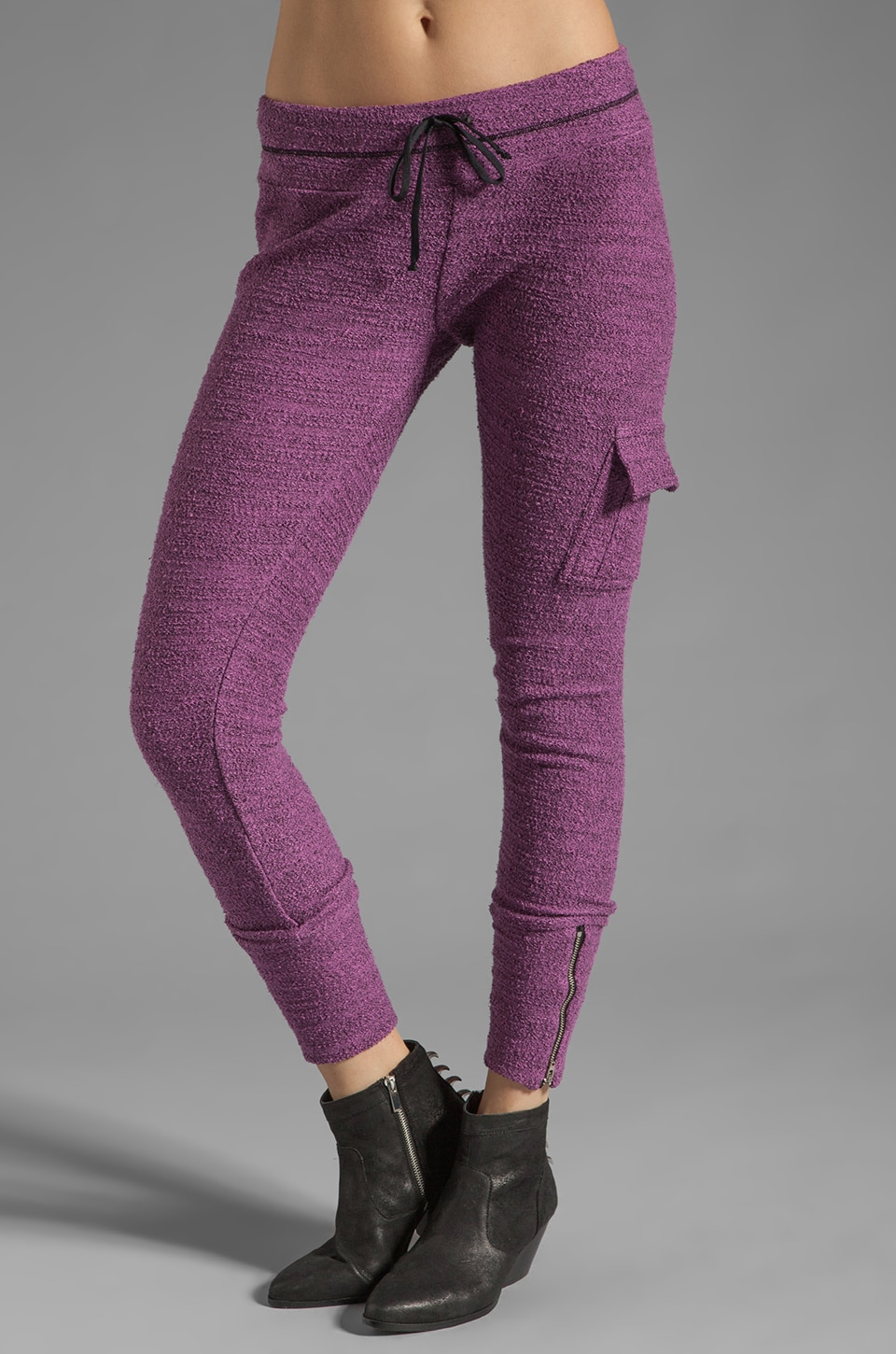 Michael Lauren Warren Cargo Pant in Berry Blast