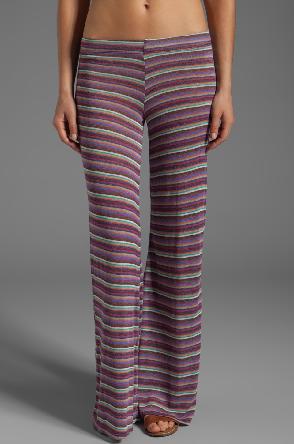 Michael Lauren Trent Wide Leg Sweatpant in Color Riot