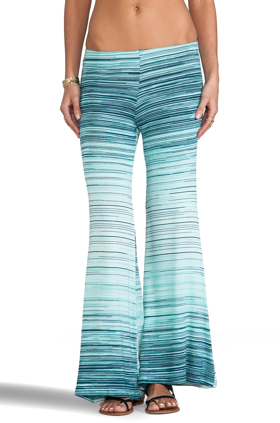 Michael Lauren Derby Wide Leg Pant in Ocean