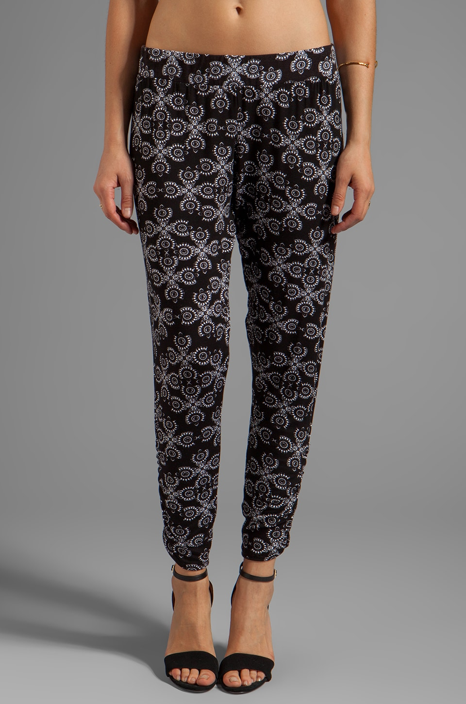 Michael Lauren Pablo Pant Print in Black