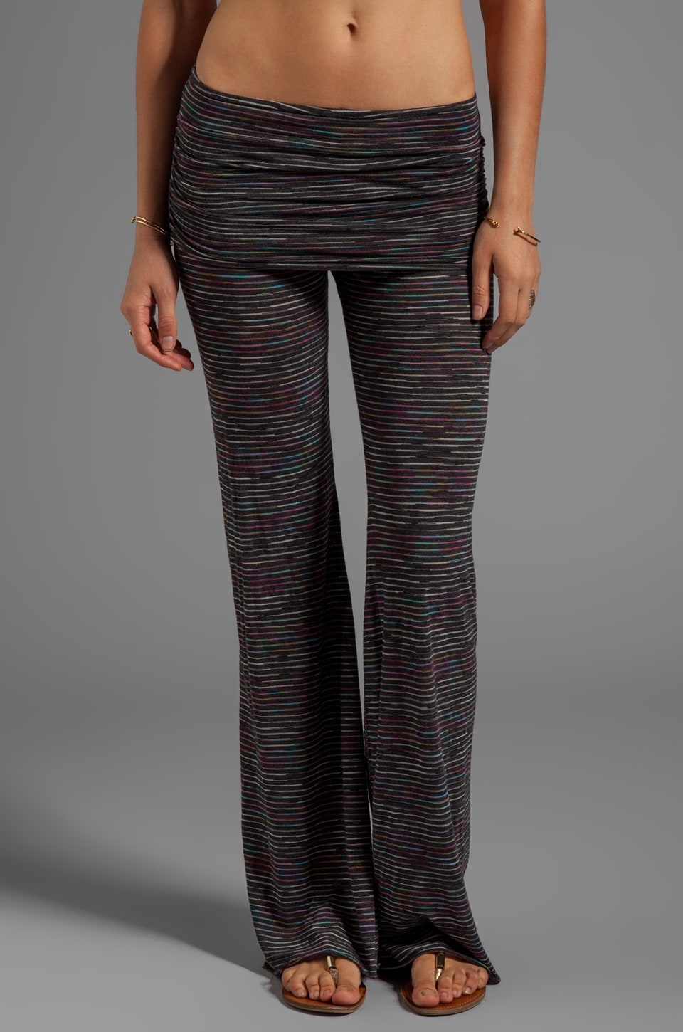 Michael Lauren Costa Bell Pant w/ Fold Over Waistband in Black