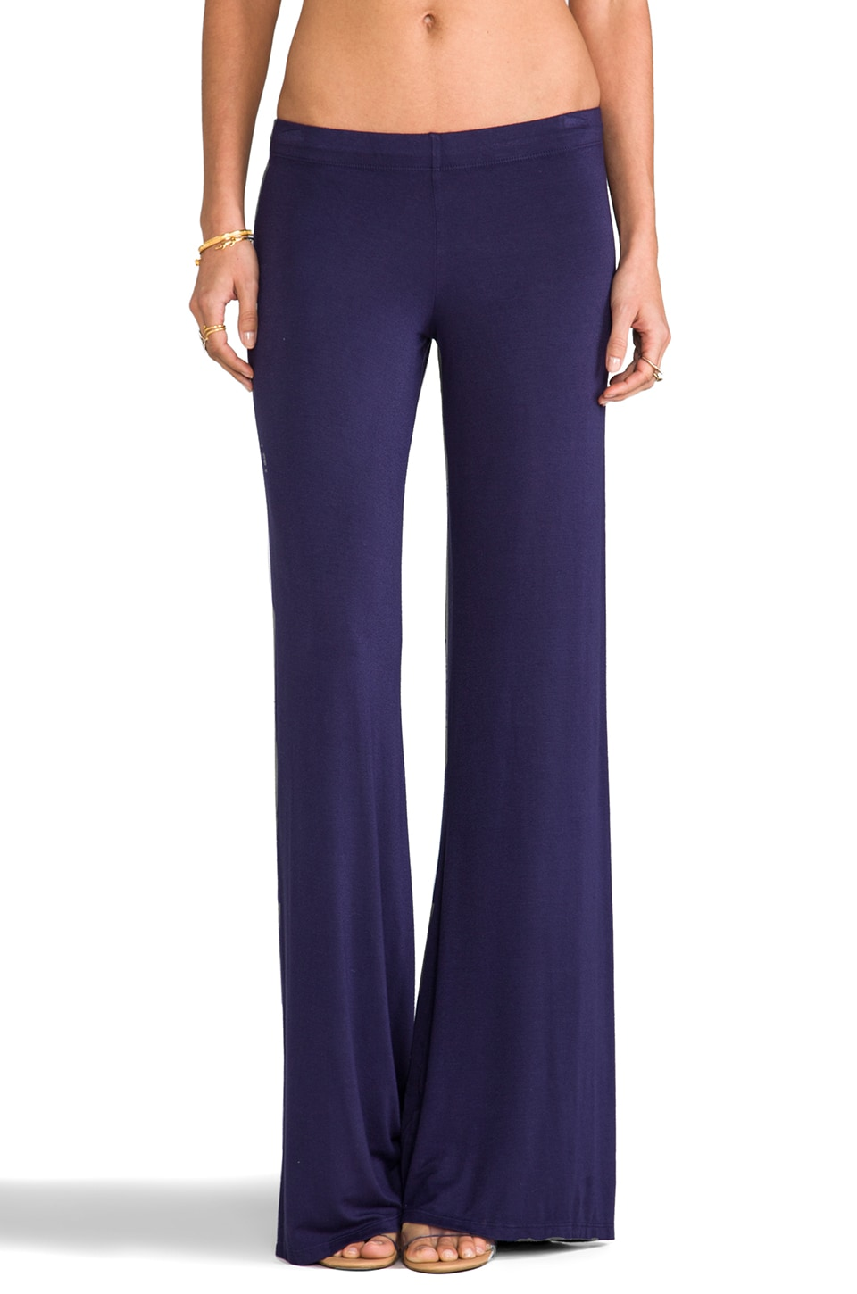 Michael Lauren Derby Wide Leg Pant in Navy