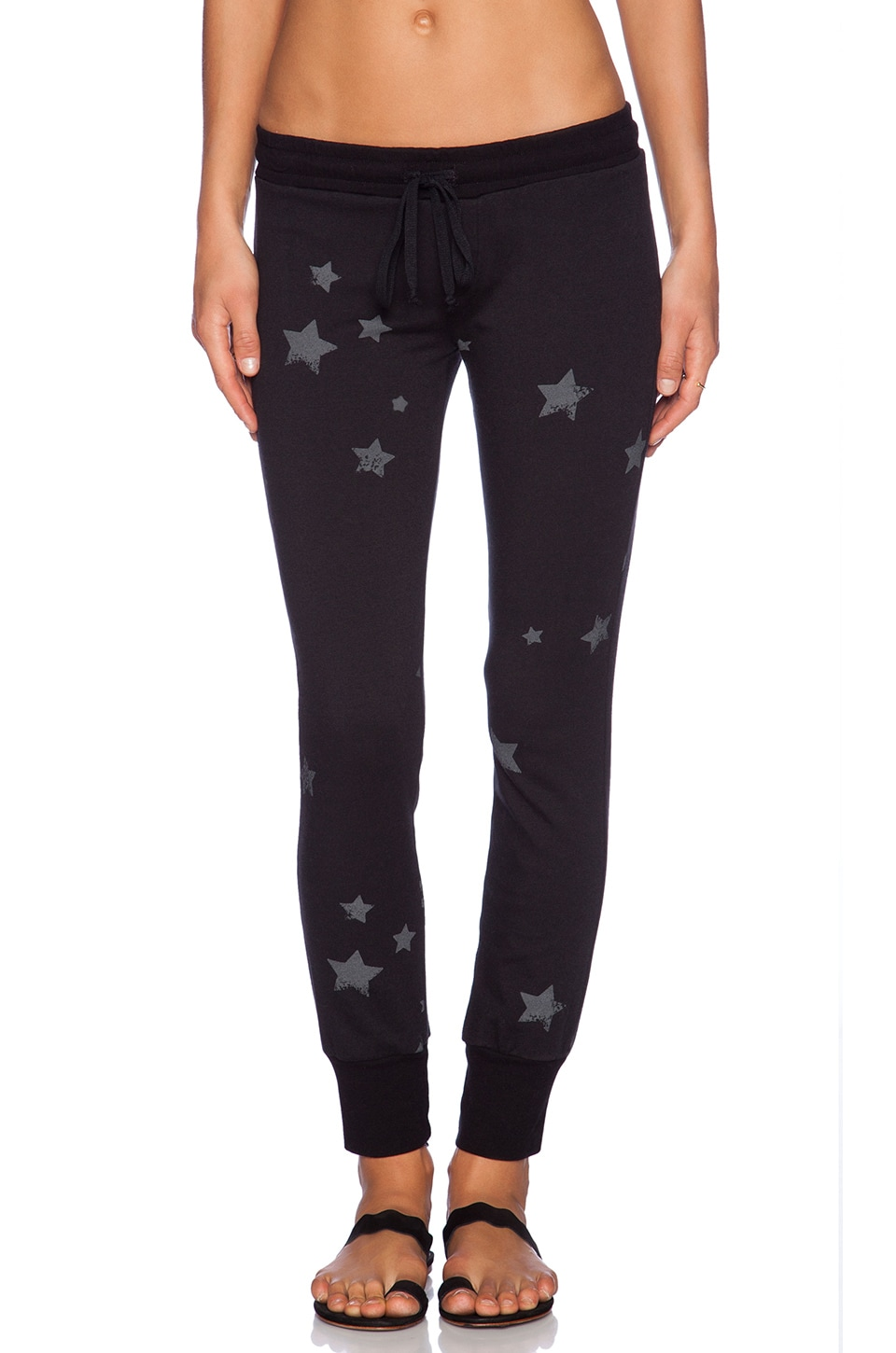 Michael Lauren Chet Track Pant in Black Stars
