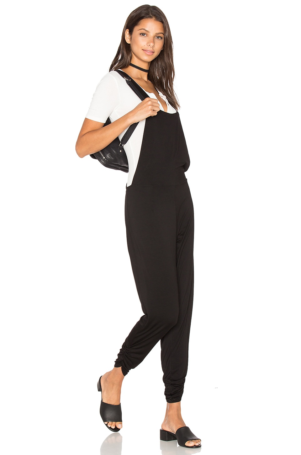 Michael Lauren Paco Overall Pants in Black