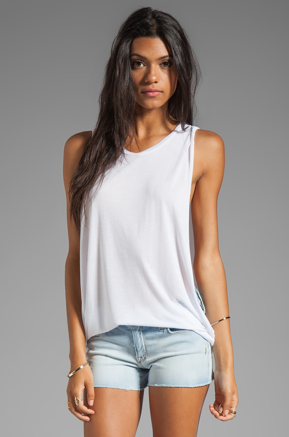 Michael Lauren Frank Muscle Tank in White