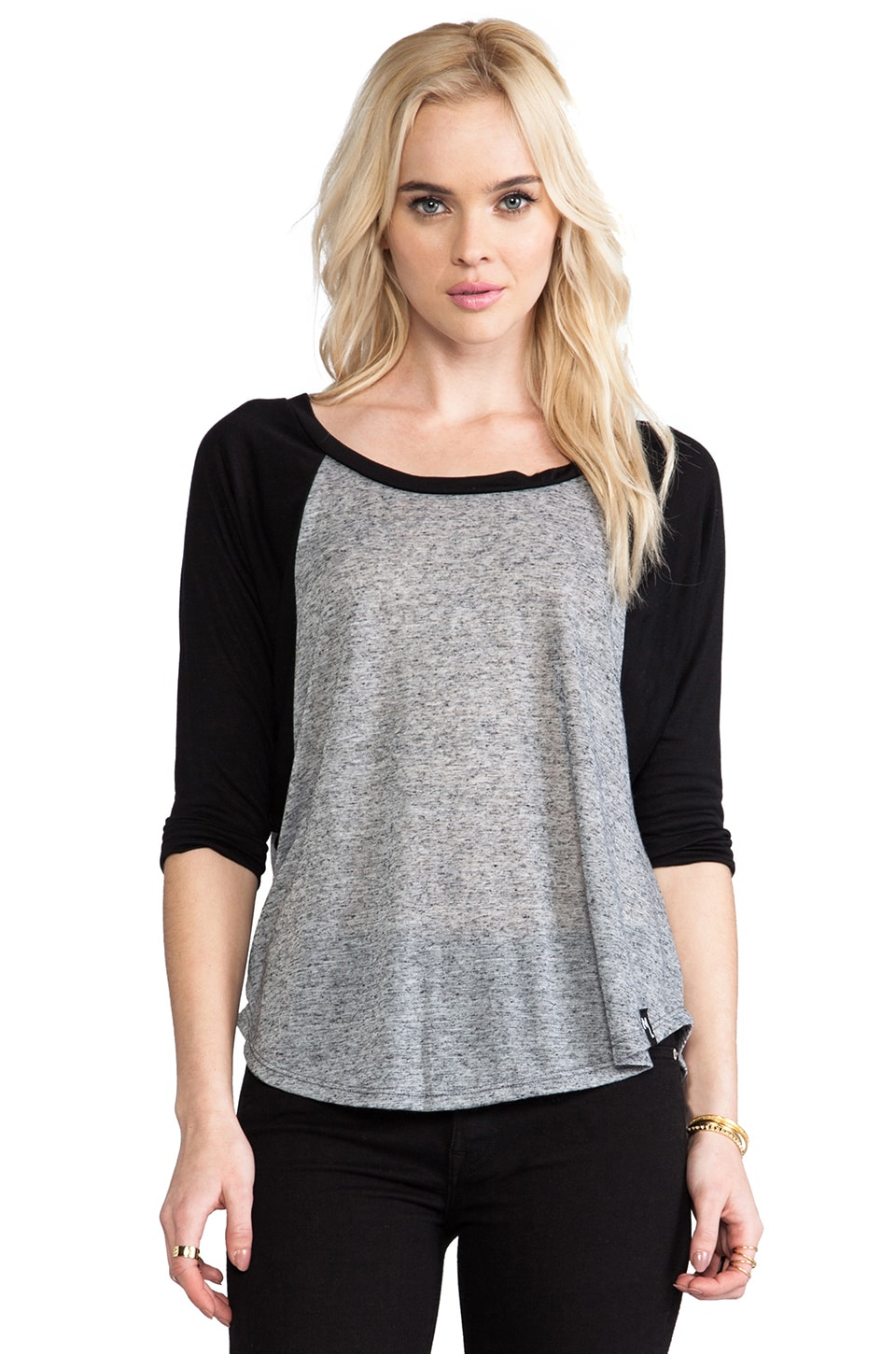 Michael Lauren Michael 3/4 Sleeve Raglan in Black