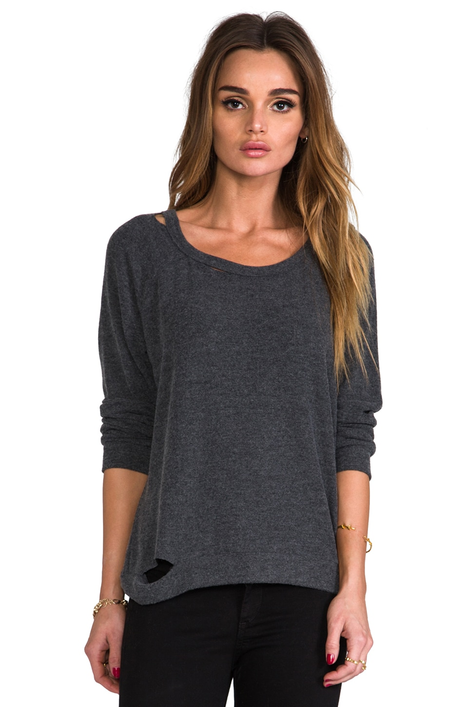 Michael Lauren Russ Pullover Top in Black