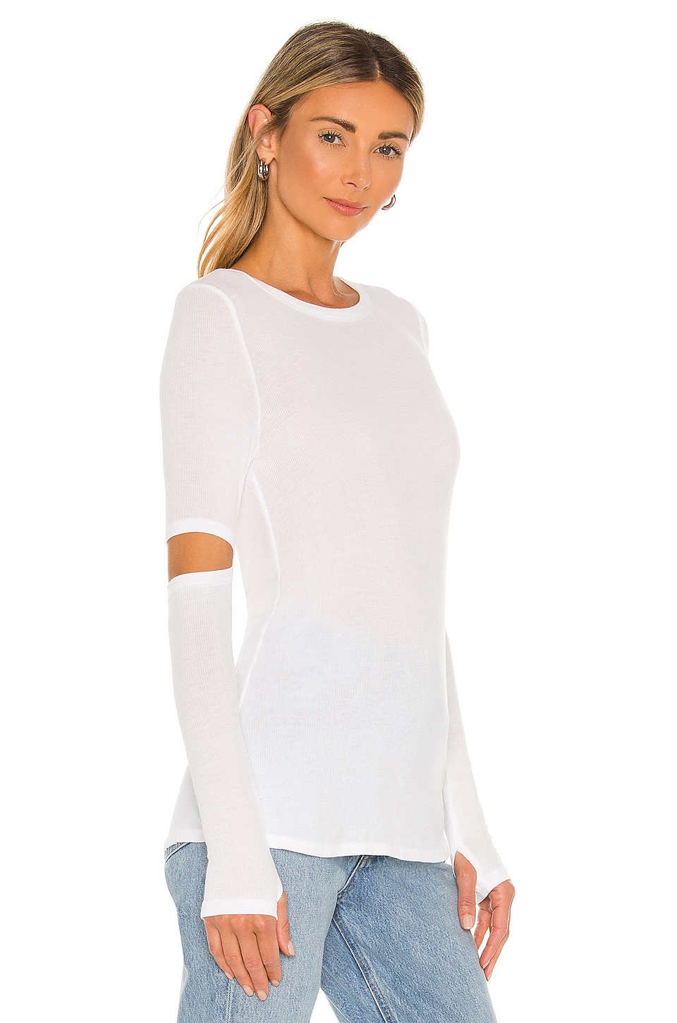Solomon Elbow Cut Out Tee, view 2, click to view large image.