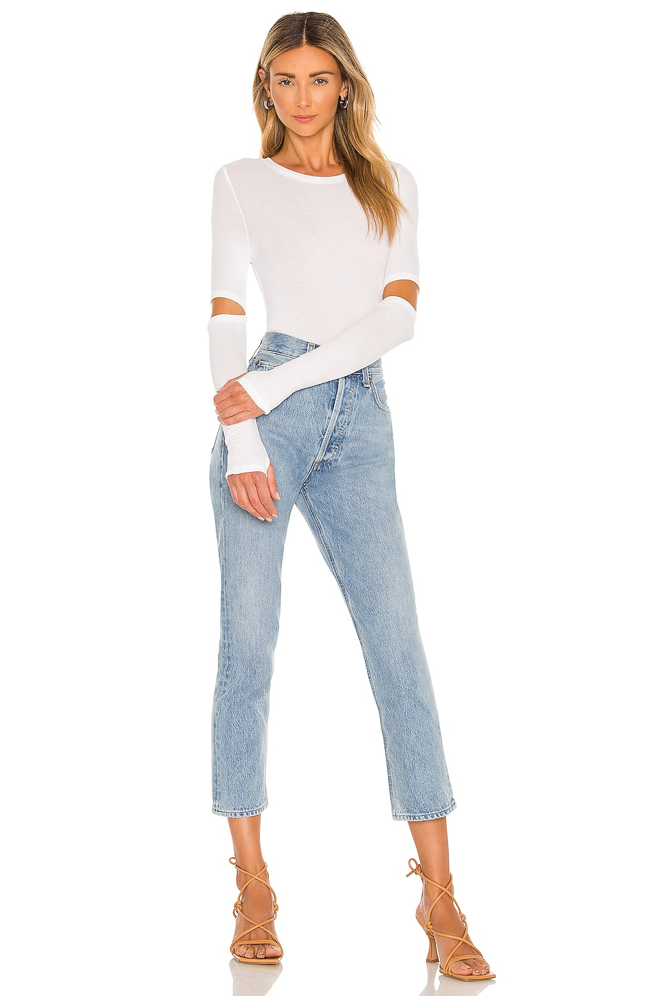 Solomon Elbow Cut Out Tee, view 4, click to view large image.