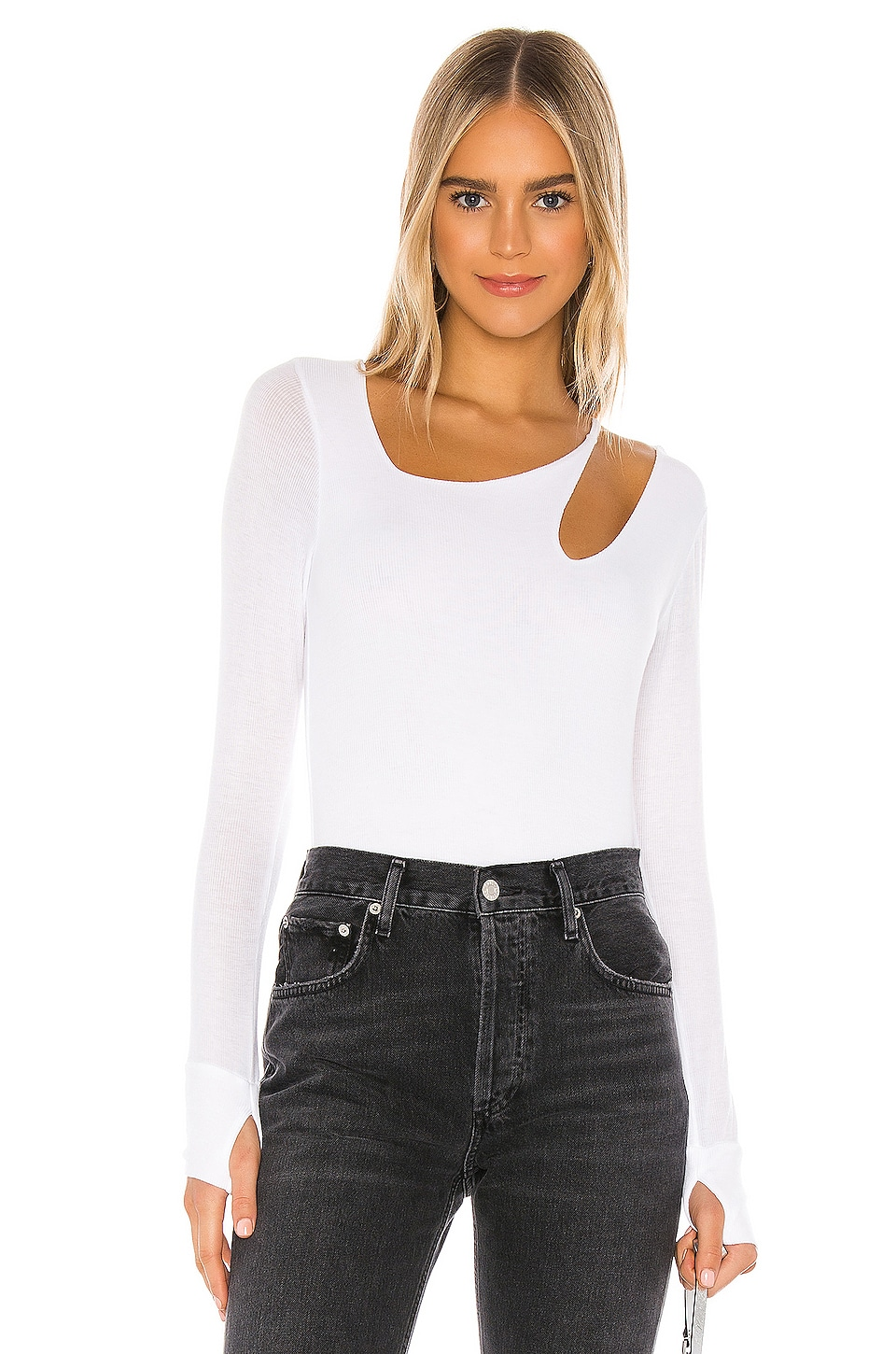Michael Lauren Fergus Top in White