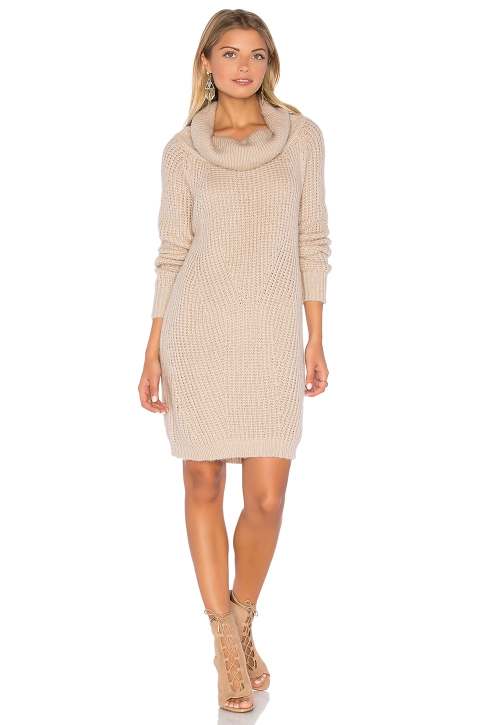 MLM Label Generation Knit Sweater Dress in Dusty Blush
