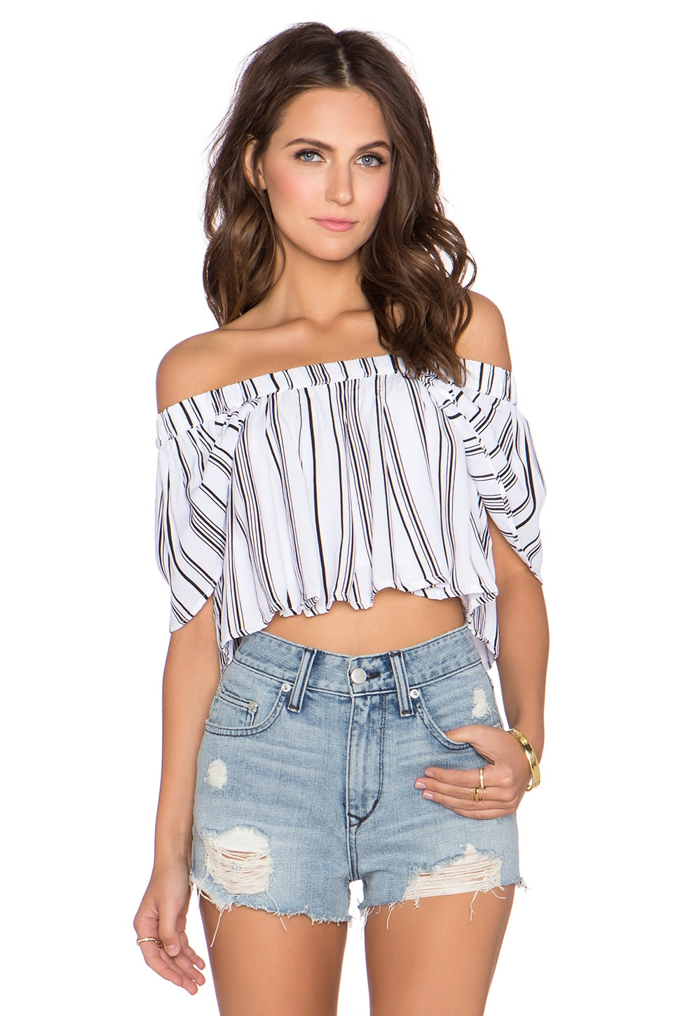 MLM Label Willow Crop Top in Stripe