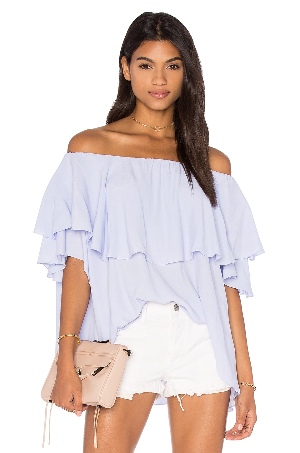 MLM Label Maison Shoulder Top in Thistle Blue