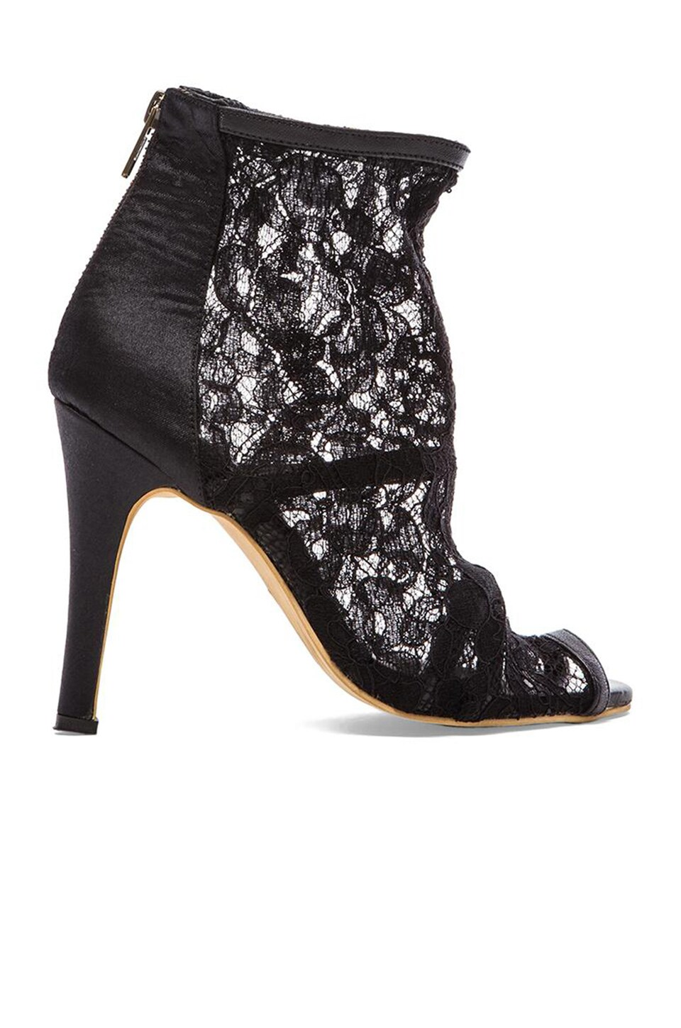 MLM Label Lace Bootie in Black