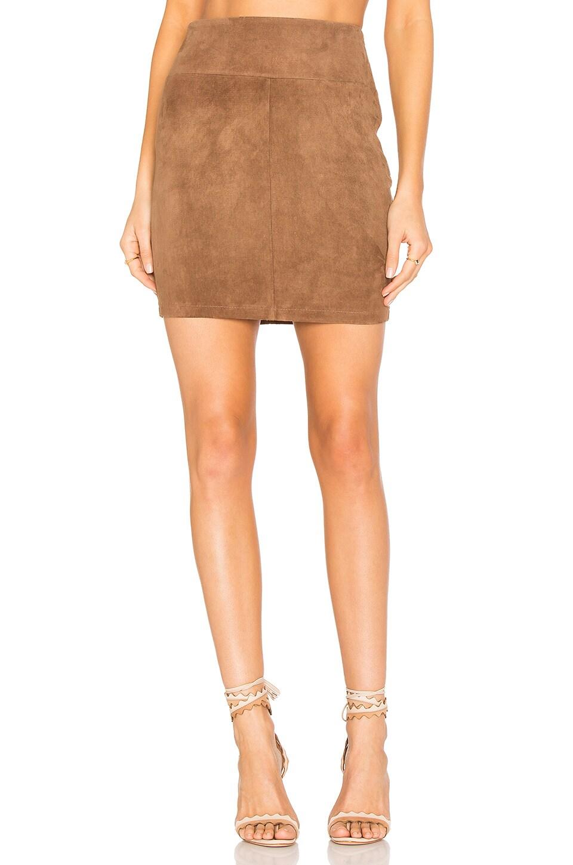 MLML Suede Mini Skirt in Sand