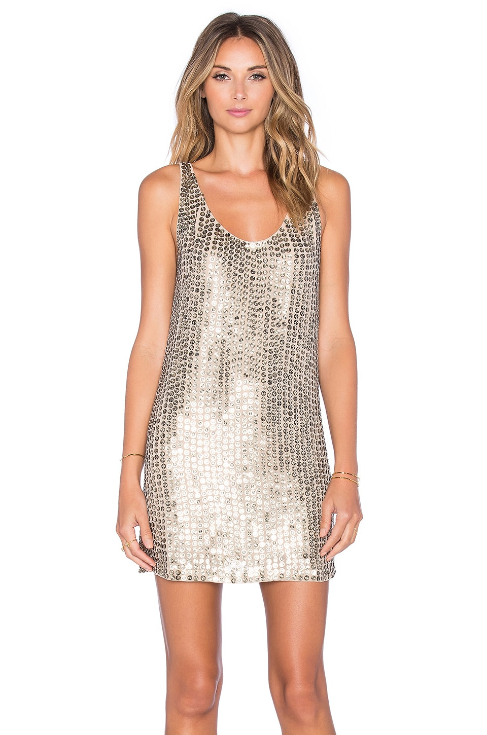 MLV Nina Sequin Dress in Gold